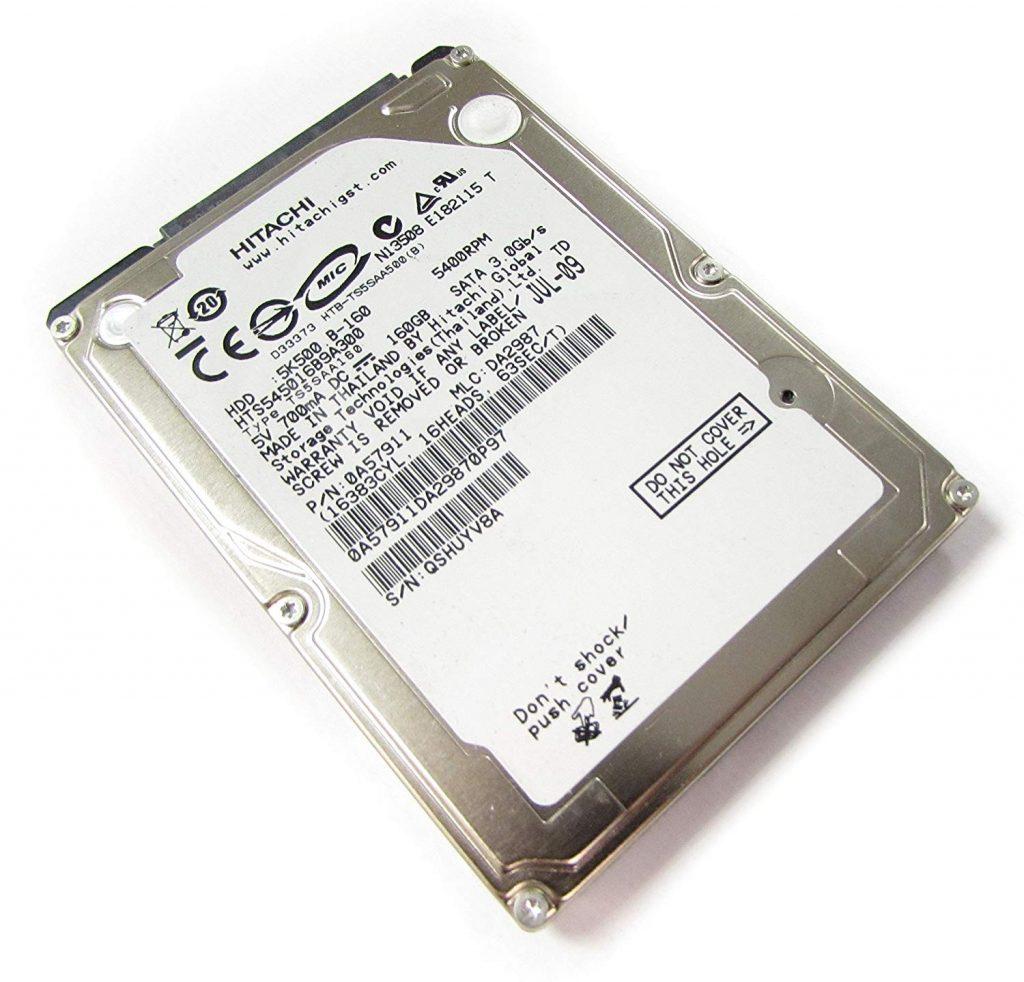 Disco Duro Sata Hitashi hts545016b9 a300 160GB