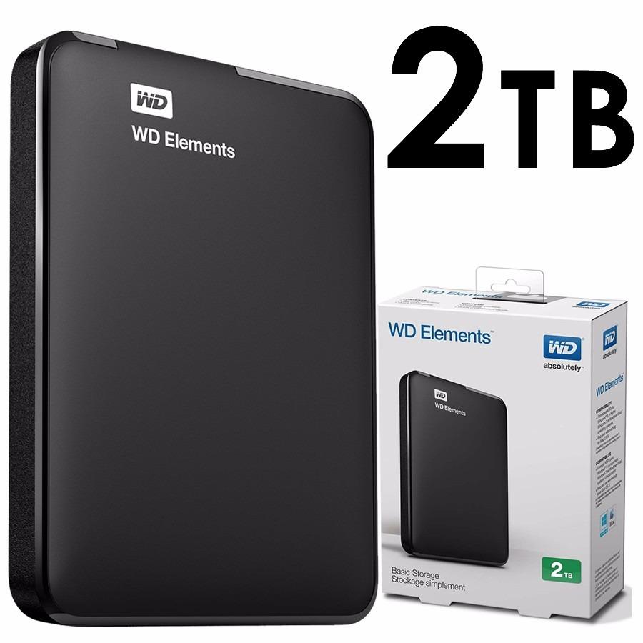 WD Elements - Disco duro externo portátil de 2 TB con USB 3.0